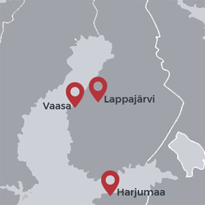Kontor på kartan